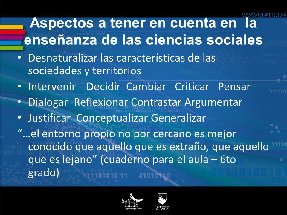 Aspectos a tener en cuenta en la enseñanza de las ciencias sociales