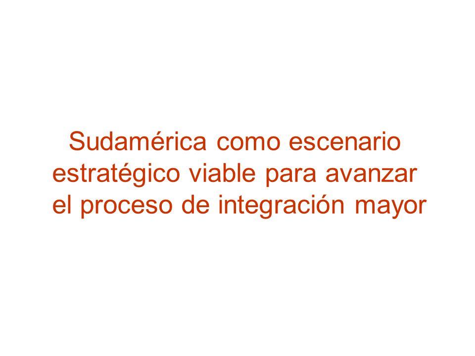 Sudamérica como escenario estratégico viable para avanzar