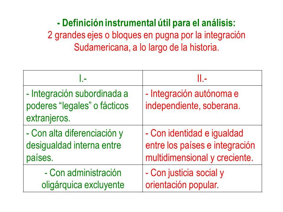 - Definición instrumental útil para el análisis:
