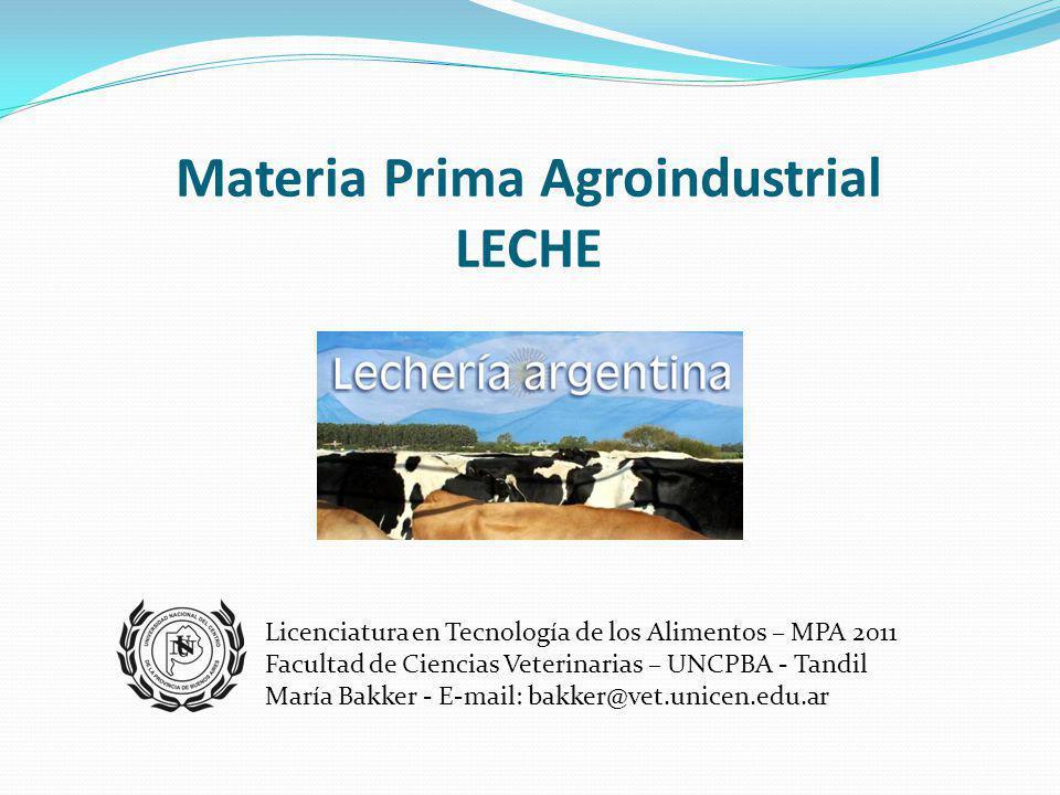 Materia Prima Agroindustrial LECHE