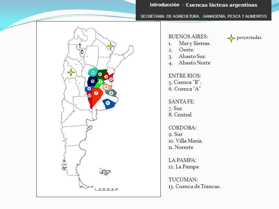 BUENOS AIRES: Mar y Sierras. Oeste. Abasto Sur. Abasto Norte