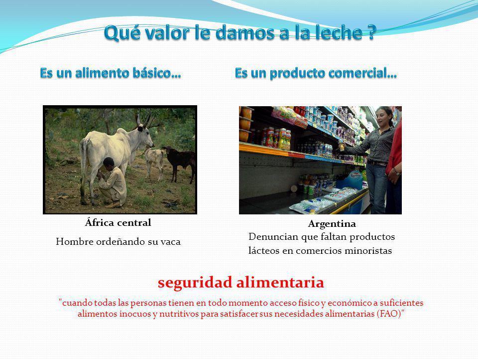 Qué valor le damos a la leche seguridad alimentaria