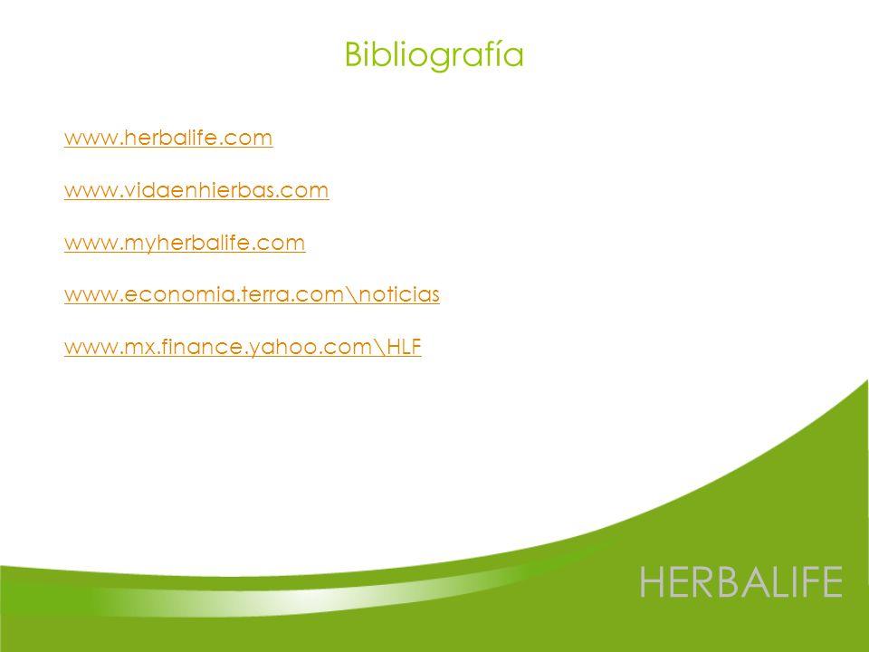 HERBALIFE Bibliografía www.herbalife.com www.vidaenhierbas.com