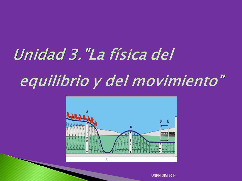 Unidad 3. La física del equilibrio y del movimiento