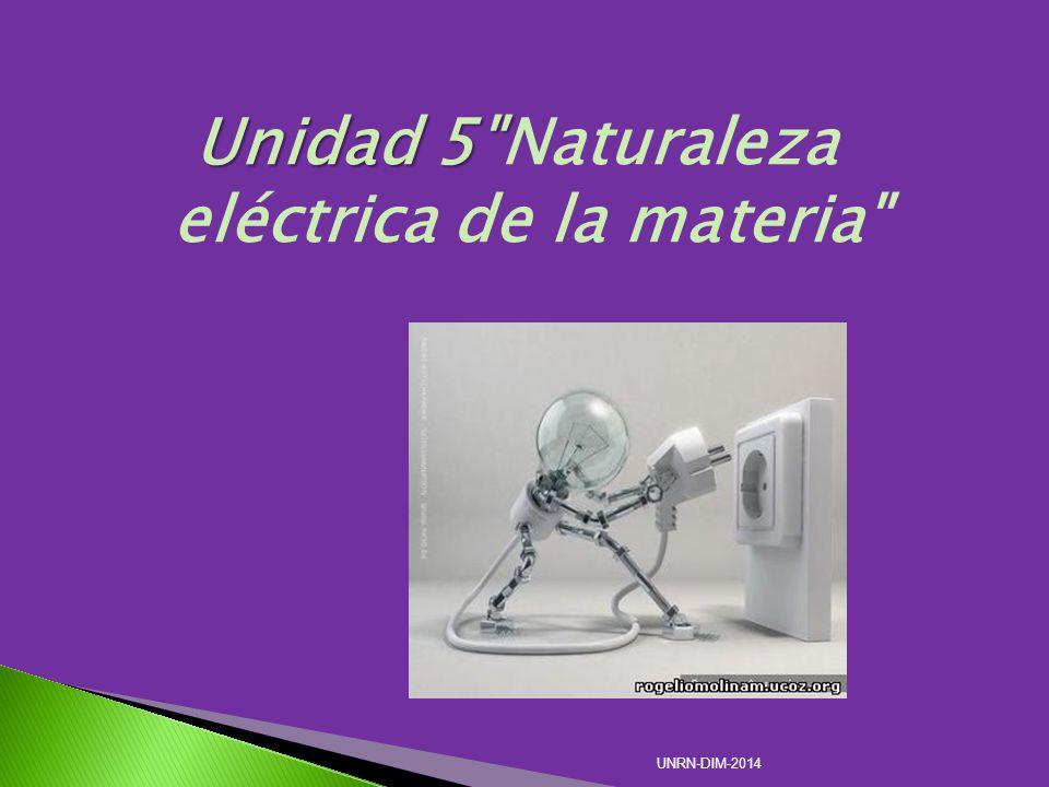 Unidad 5 Naturaleza eléctrica de la materia