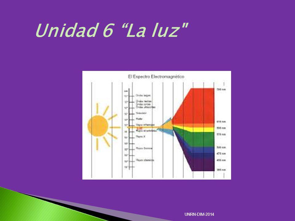 Unidad 6 La luz UNRN-DIM-2014