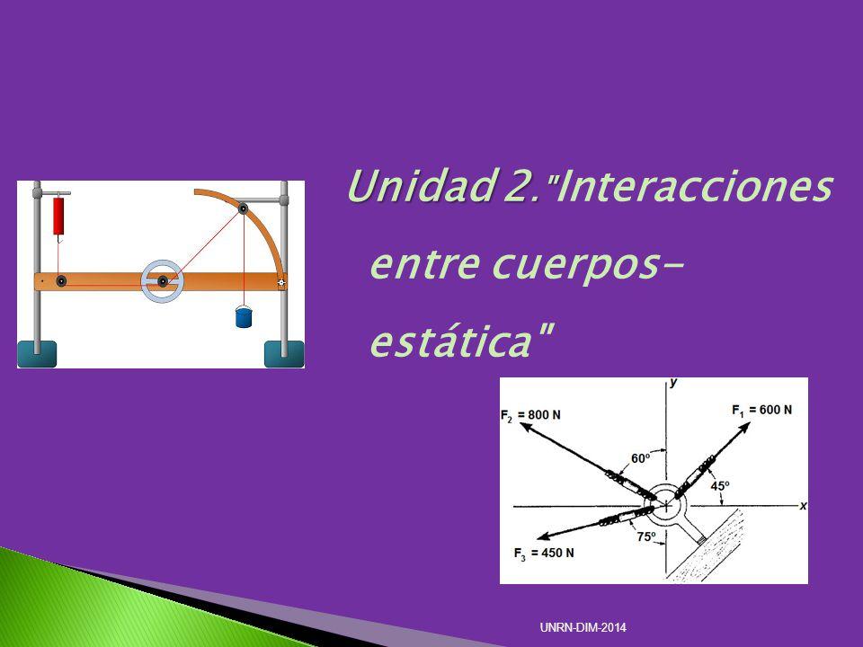 Unidad 2. Interacciones entre cuerpos- estática