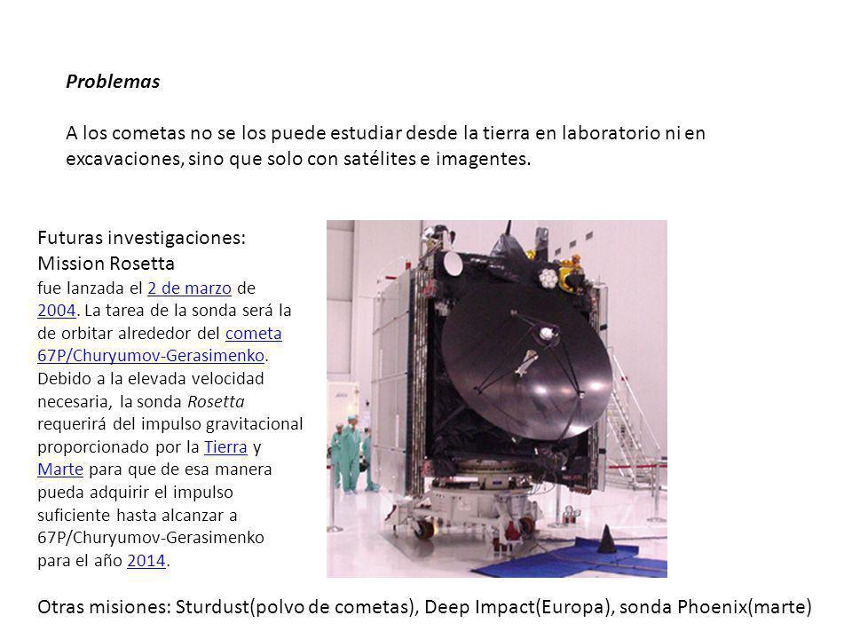 Futuras investigaciones: Mission Rosetta