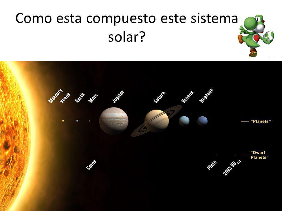Como esta compuesto este sistema solar