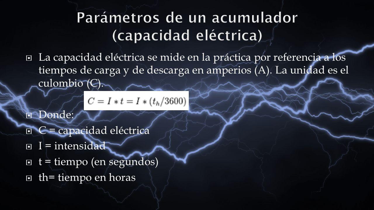 Parámetros de un acumulador (capacidad eléctrica)