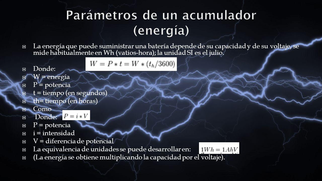 Parámetros de un acumulador (energía)