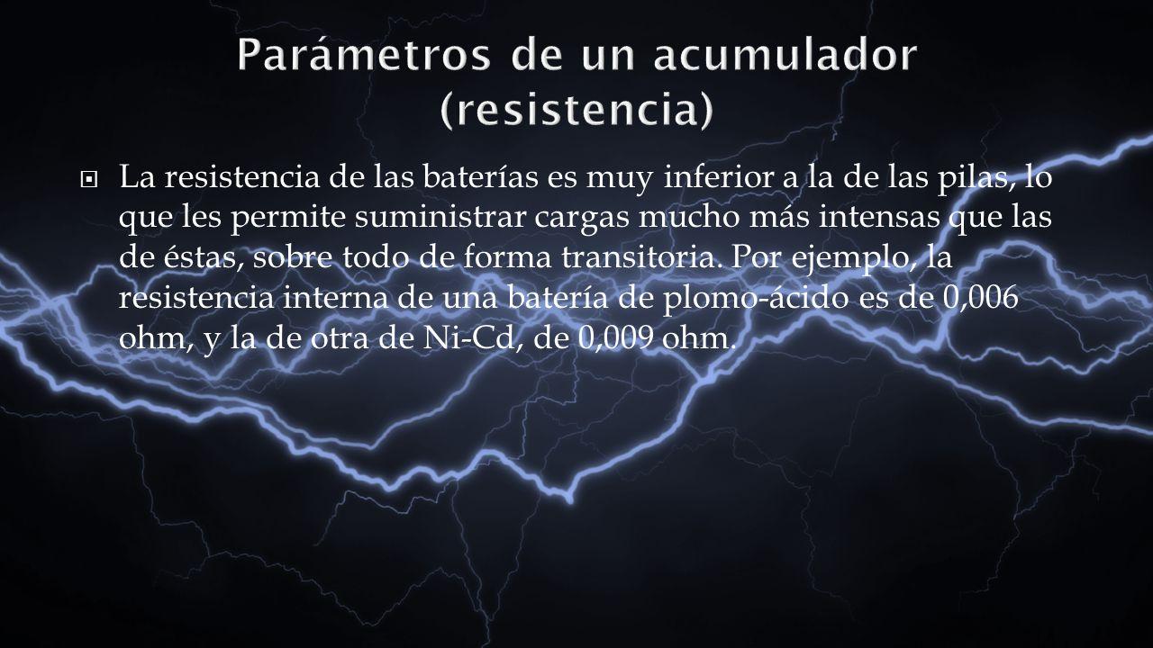 Parámetros de un acumulador (resistencia)