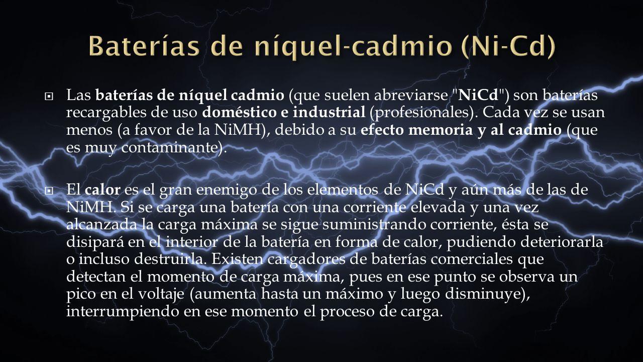 Baterías de níquel-cadmio (Ni-Cd)