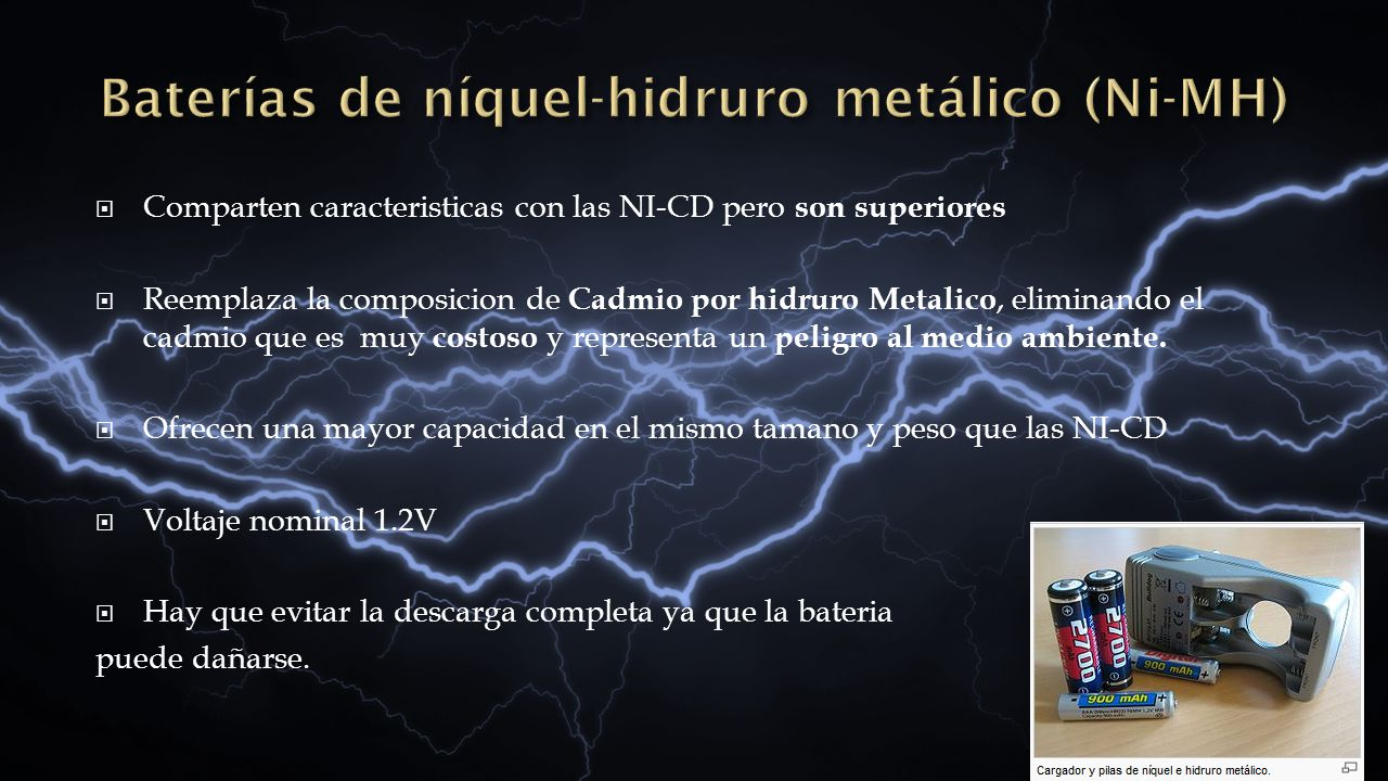 Baterías de níquel-hidruro metálico (Ni-MH)