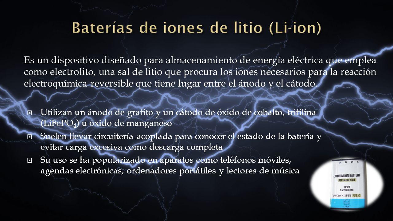 Baterías de iones de litio (Li-ion)