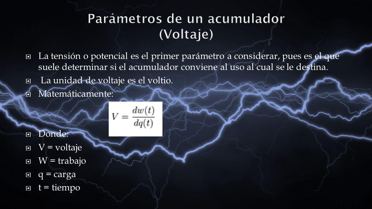 Parámetros de un acumulador (Voltaje)