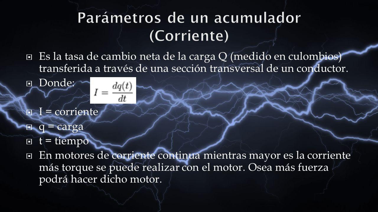 Parámetros de un acumulador (Corriente)