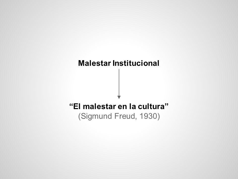 Malestar Institucional El malestar en la cultura