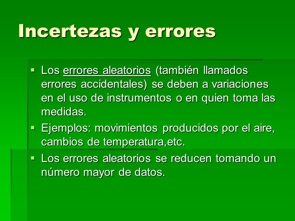 Incertezas y errores