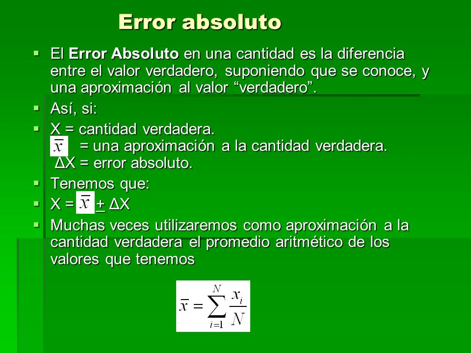Error absoluto