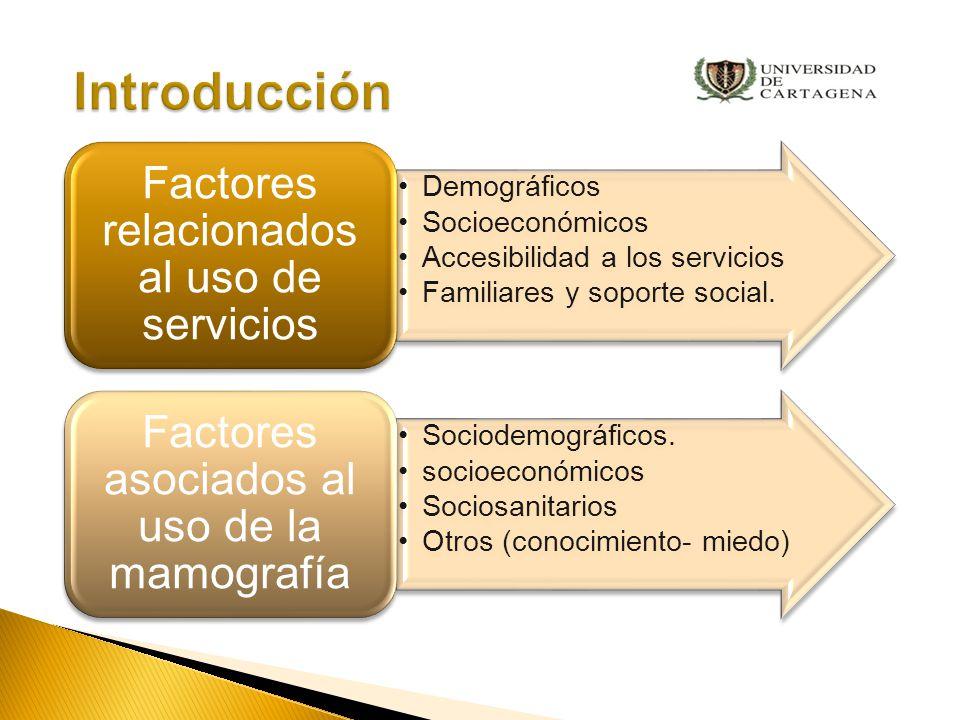 Introducción Factores relacionados al uso de servicios