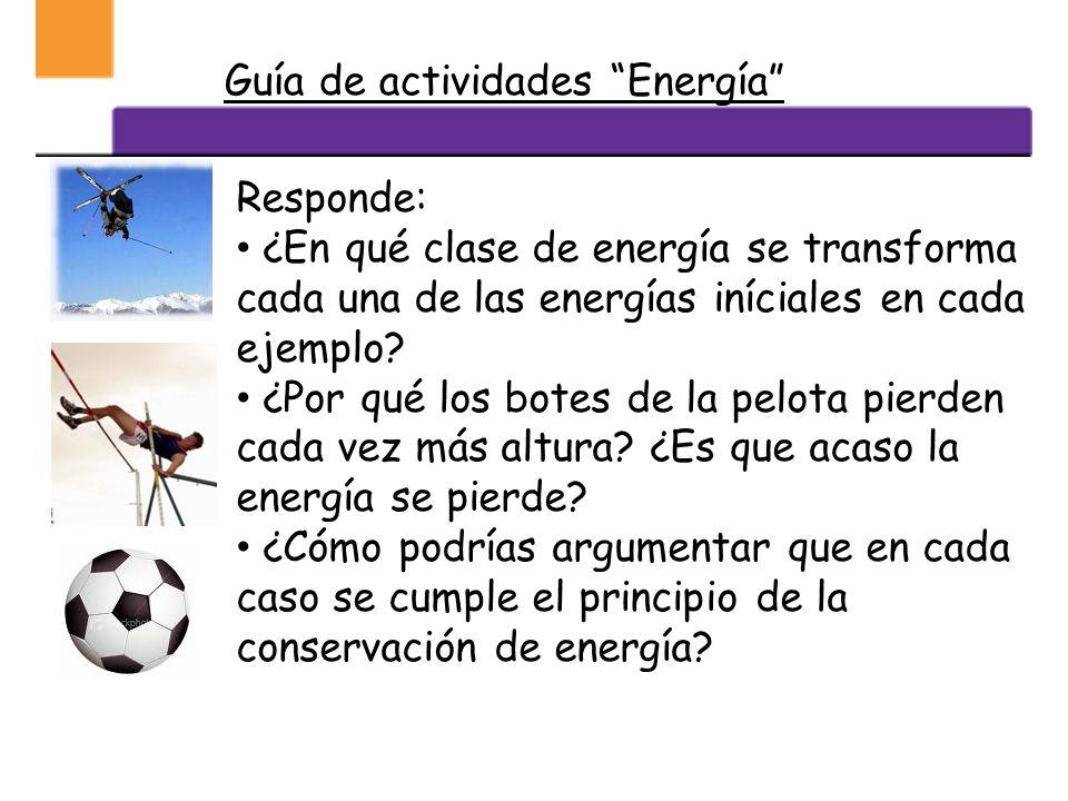 Guía de actividades Energía