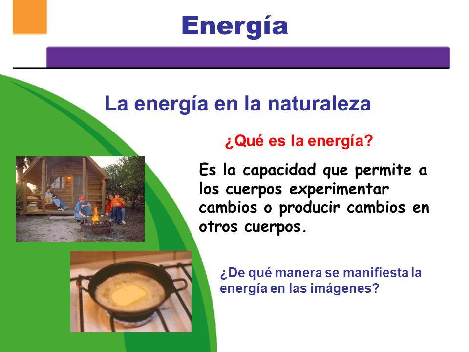 La energía en la naturaleza