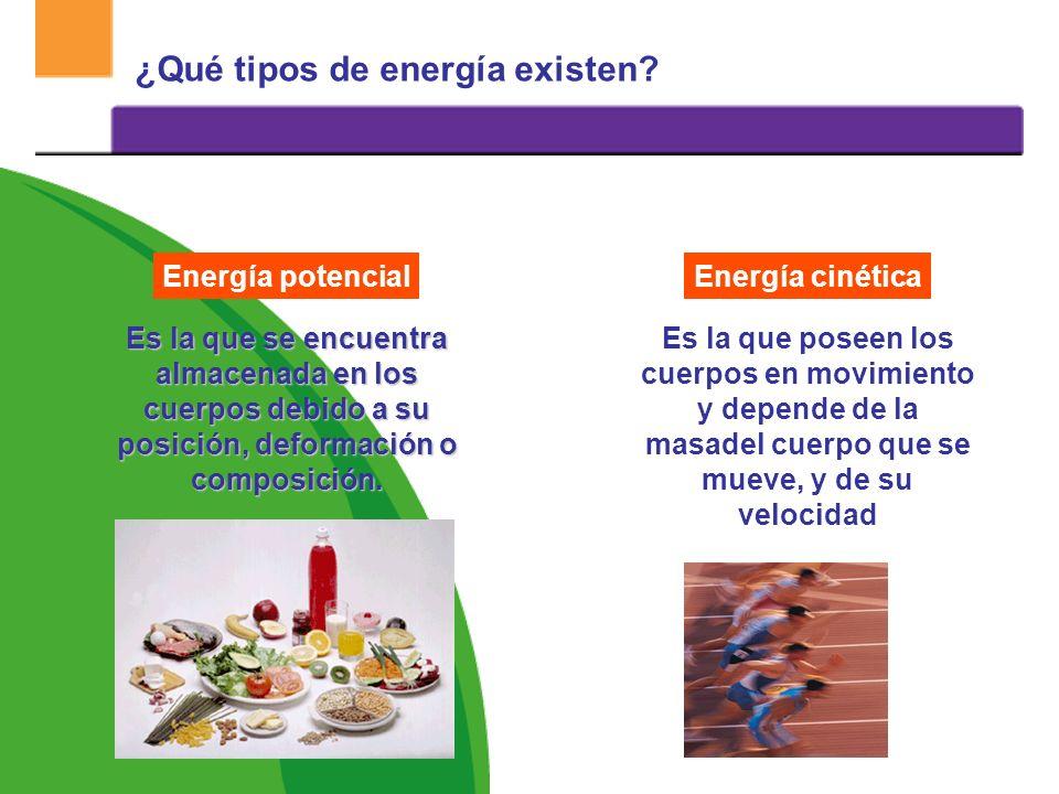 ¿Qué tipos de energía existen