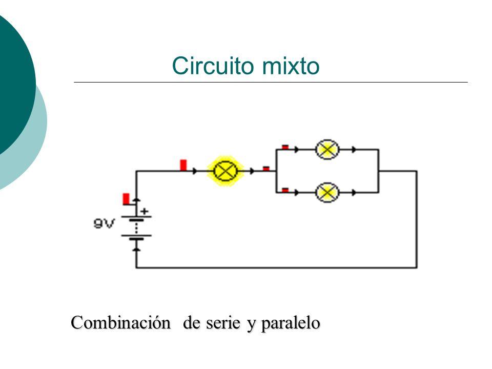 Circuito mixto Combinación de serie y paralelo