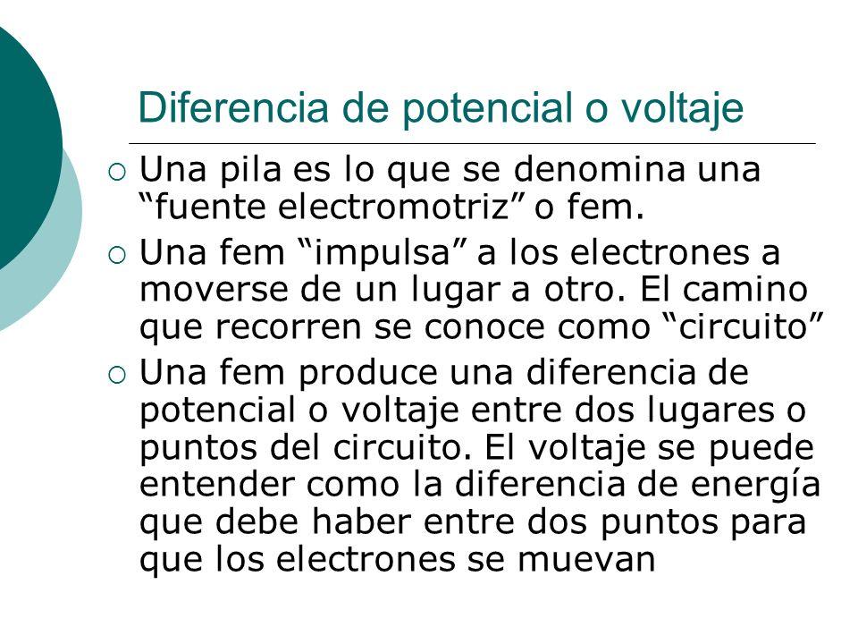 Diferencia de potencial o voltaje