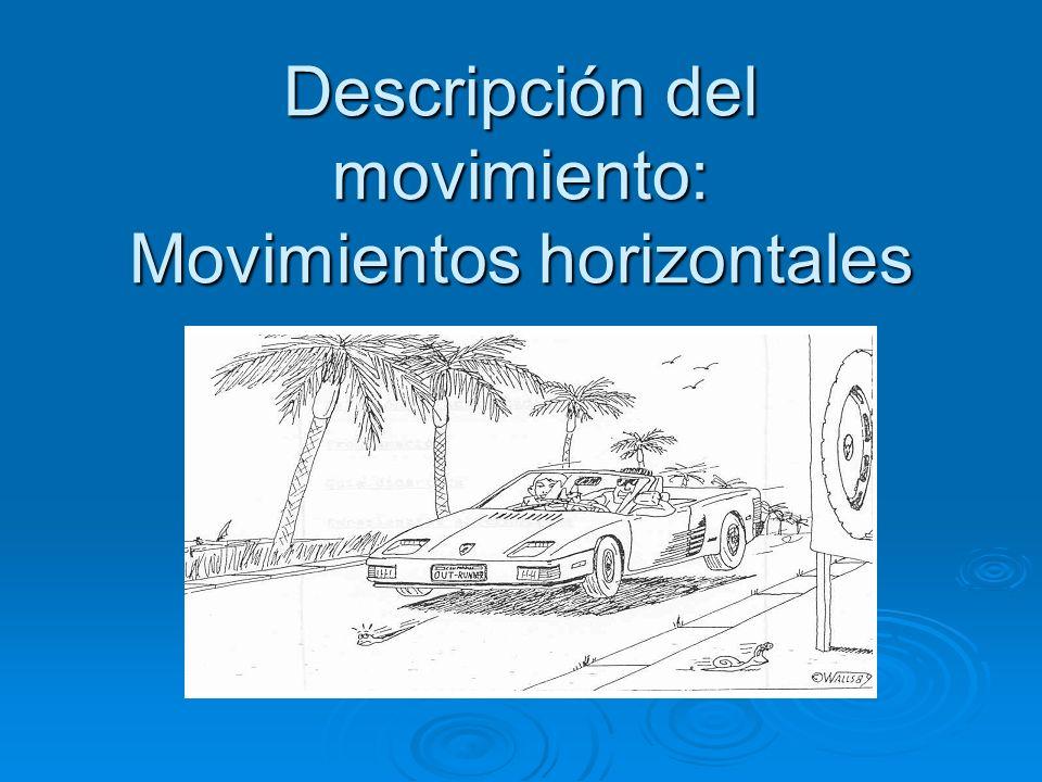 Descripción del movimiento: Movimientos horizontales