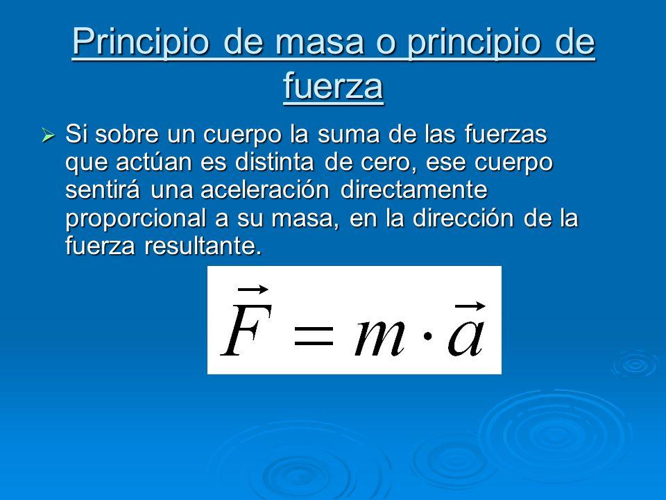 Principio de masa o principio de fuerza