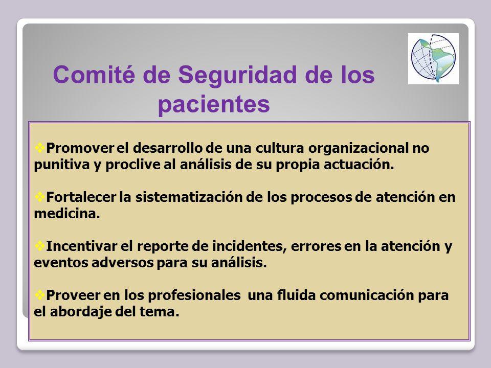 Comité de Seguridad de los pacientes