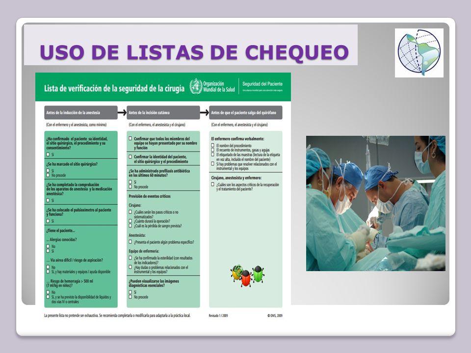 USO DE LISTAS DE CHEQUEO