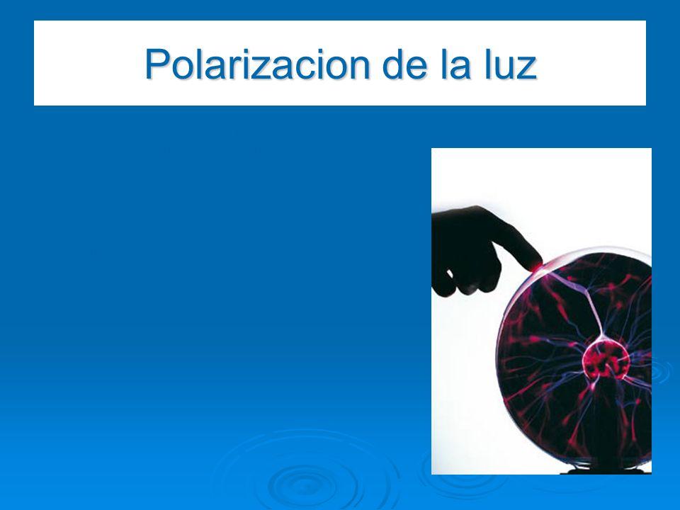 Polarizacion de la luz