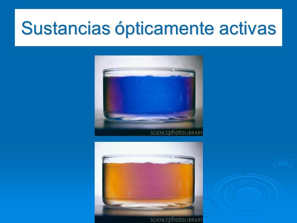 Sustancias ópticamente activas