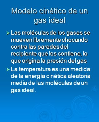 Modelo cinético de un gas ideal