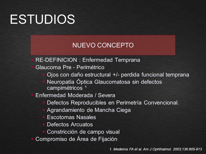 ESTUDIOS NUEVO CONCEPTO RE-DEFINICION : Enfermedad Temprana