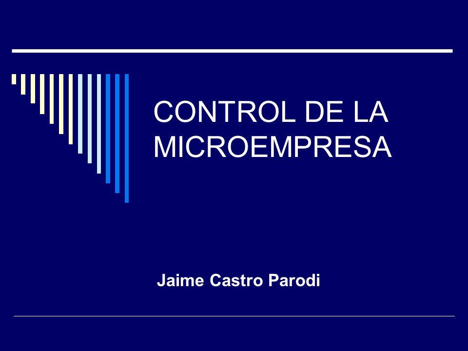 CONTROL DE LA MICROEMPRESA