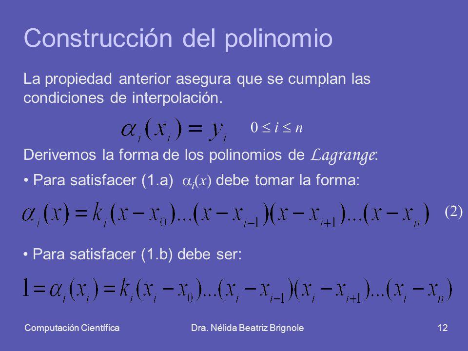 Construcción del polinomio