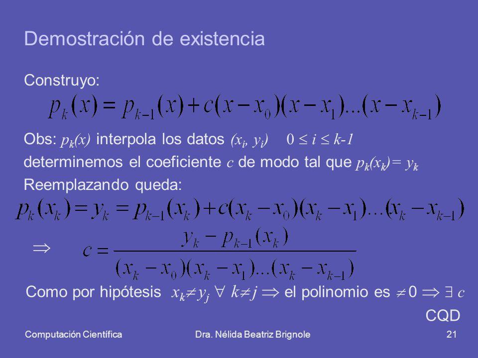 Demostración de existencia