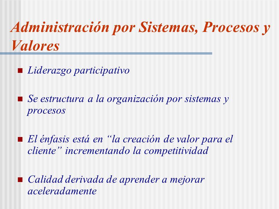 Administración por Sistemas, Procesos y Valores