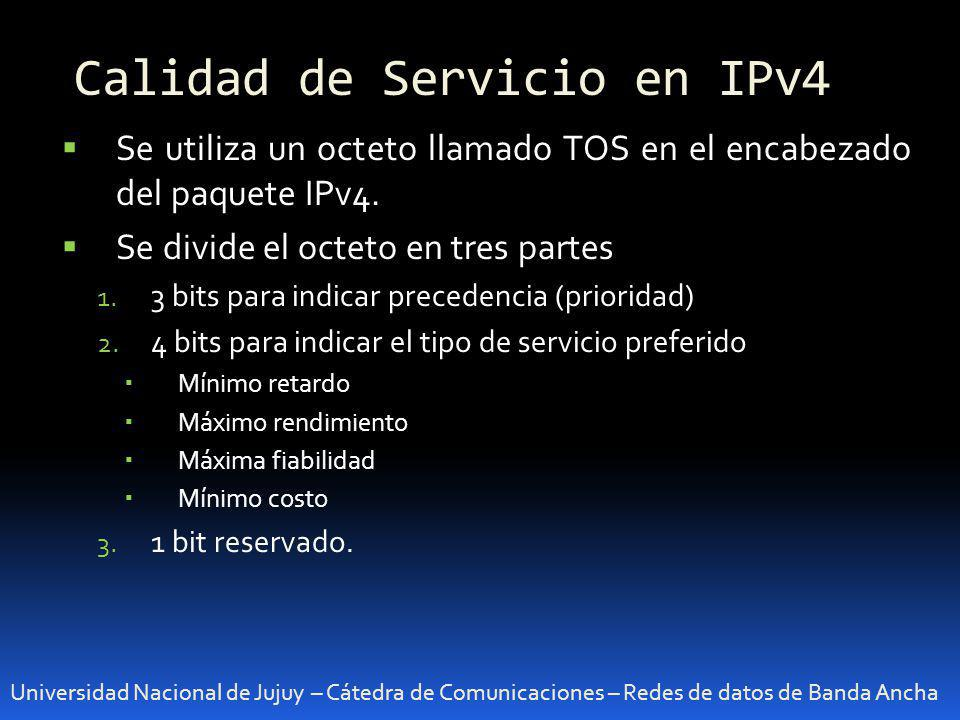 Calidad de Servicio en IPv4