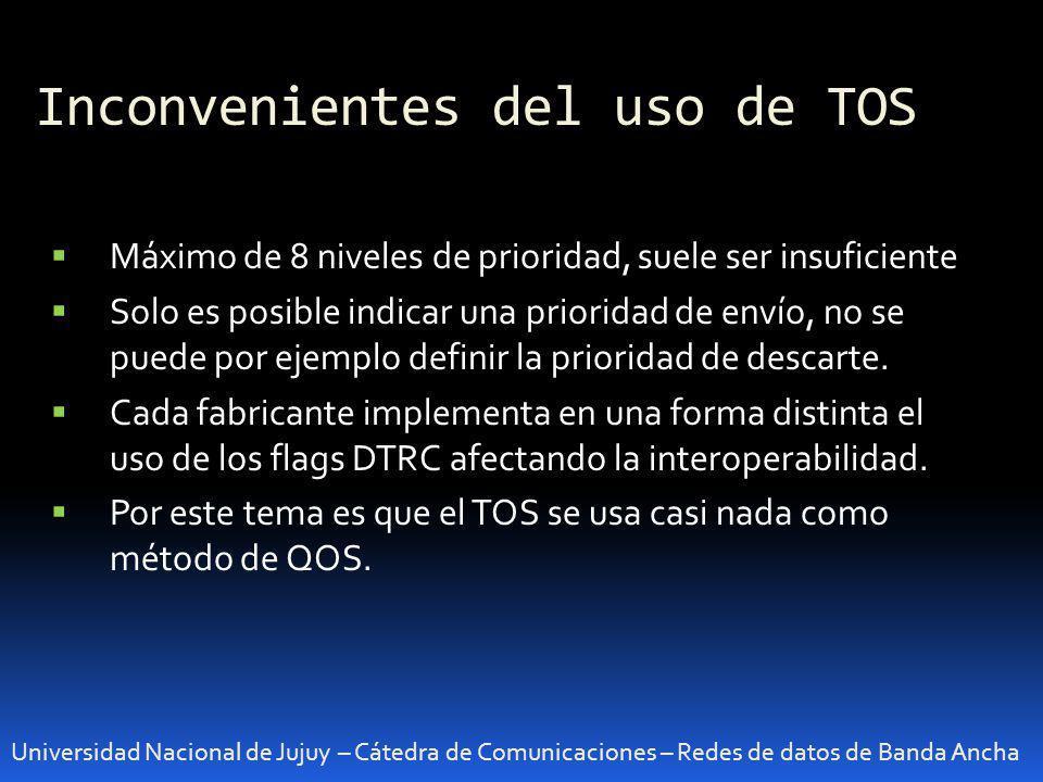 Inconvenientes del uso de TOS