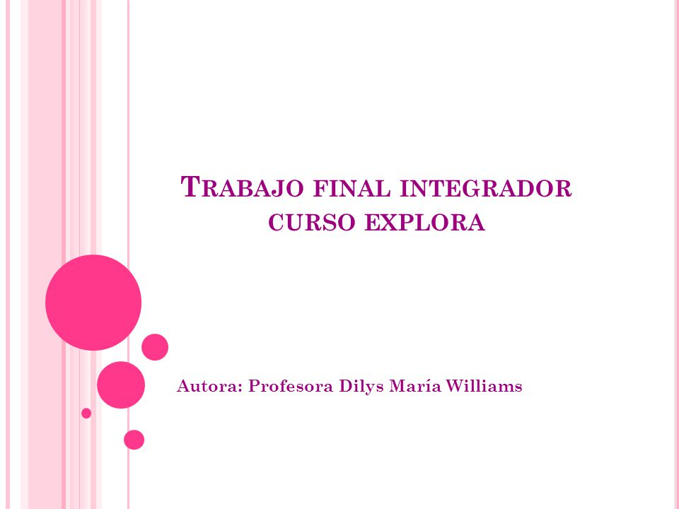 Trabajo final integrador curso explora