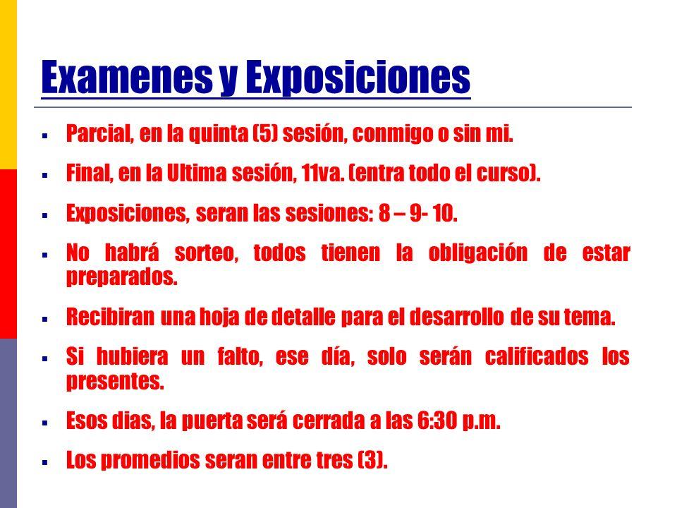 Examenes y Exposiciones