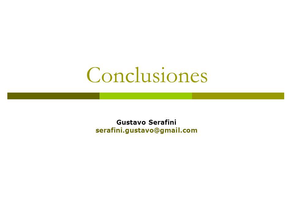 Conclusiones Gustavo Serafini serafini.gustavo@gmail.com