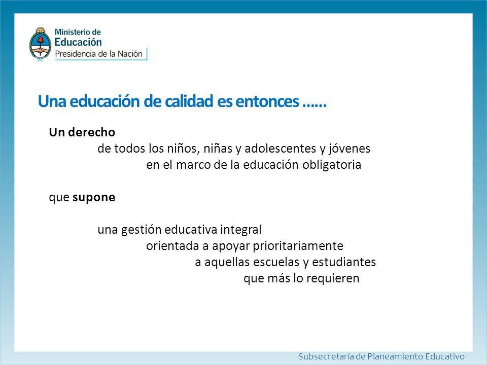 Subsecretaría de Planeamiento Educativo