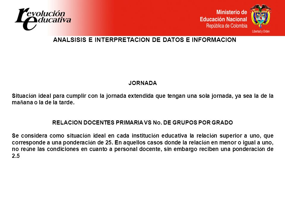ANALSISIS E INTERPRETACION DE DATOS E INFORMACION