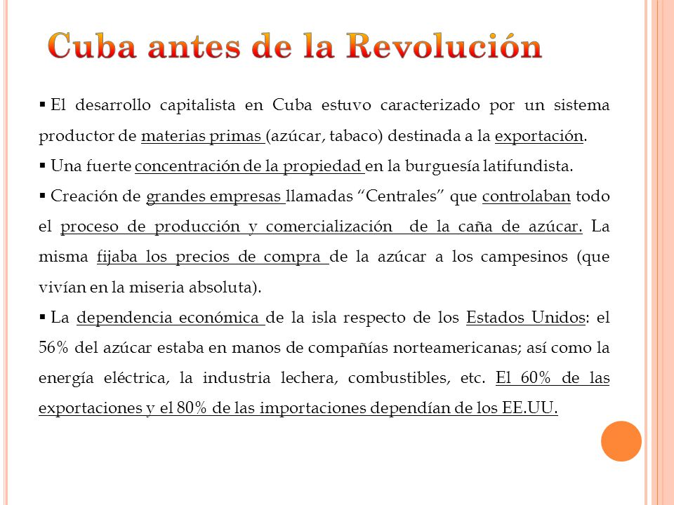 Cuba antes de la Revolución